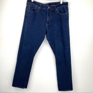 Banana Republic dark wash skinny jeans 35x32